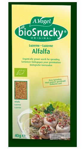 bioSnacky - nasiona na kiełki lucerny, 40g